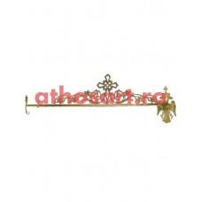 Agatatoare reglabila din bronz aurit (96...140 cm) cod 89-592